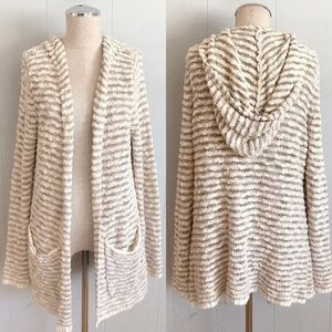 MOTH Anthropologie Knit Hood Cardigan Sweater Med